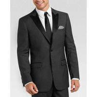 estilos de esmoquin gris al por mayor-Nueva gris Slim Fit trajes para hombre traje de boda del smoking del novio del estilo de vestido de visita clásica del negro de hombres (Jacket + Pants + tie)