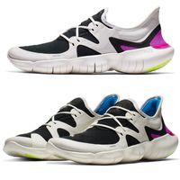sandália de sneaker ao ar livre venda por atacado-Originals livre Rn 5.0 2019 tênis de corrida ao ar livre esportes Designer tênis de corrida sapatilhas sapatos de desporto sandálias de marca homens mulheres PRETO BRANCO