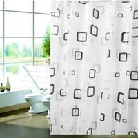 ingrosso tende alla moda-Nuovo moderno Elegante PEVA materiale spessa cortina doccia muffa impermeabile 80 * 180cm bagno Prodotti B5 trasporto veloce