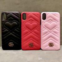 coque arrière rigide pour logo iphone achat en gros de-Coque en métal LOGO love logo pour iphone Xs max Xr 7 7plus 8 8plus 6 6plus couverture dure