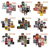 jackson pinta venda por atacado-Sinais de Estanho do metal Michael Jackson Bob Marley Elvis Presley Cartazes Do Vintage de Metal Parede Home Art Pintura A Metal Decoração Da Parede Da Arte Fotos 20 * 30 cm