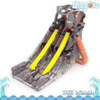 Wholesale jumbo games resale online - Outdoor Large Inflatable Water Jumbo Bouncer Air Slide Inflatable Scary Snake Water Slide for Multiplayer Games