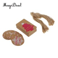 Wholesale string gift label resale online - 50x Merry Christmas Gifts Tags String Labels Holiday Hanging Decorations Scrapbooking DIY