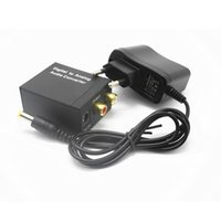 Wholesale optic cables resale online - Optical mm Coaxial Toslink Digital to Analog Audio Adapter Converter L R with Fiber optic cable Power Adapter