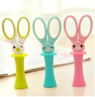 tesoura de papelagem venda por atacado-Magic Rabbit Crianças Tesoura Polivalente Tesoura de Escritório Tesoura De Aço Inoxidável Estudante DIY Ferramenta de Faca De Corte De Papel