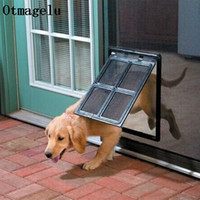 Wholesale security gates online - Lockable Plastic Pet Dog Cat Kitty Door for Screen Window Security Flap Gates Pet Tunnel Dog Fence Free Access Door for Home