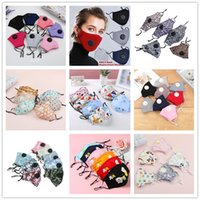 Wholesale Newest adult kids mask with Breathing valve filter PM2 cotton face mouth mask Dustproof Protective Mask Cartoon Face Masks washable