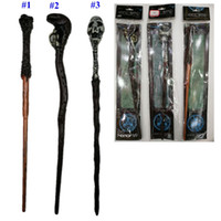 Wholesale harry potter wands toys for sale - Group buy 3 Styles Harry Potter Magic Wand Creative Harry Potter Skull Series Non luminous Magical Wand Big Kids Toy MMA2235