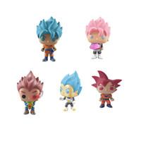 brinquedos venda por atacado-Funko pop Oficial Dragon Ball Z Ressurreição F-Super Saiyajin Vegeta Vinil Action Figure Collectible Modelo Toy 5 estilos