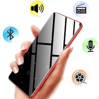 música mp3 al por mayor-Reproductor de MP3 bluetooth 4.2 Teclas táctiles de altavoz Hi fi fm radio mini USB mp3 sport MP 3 HiFi reproductor de música portátil de metal walkman 8G