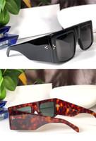 Wholesale large sunglasses for sale - Group buy New fashion designer sunglasses S105 square plate large frame popular avant garde minimalist style top uv400 protection eyewear