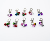 Wholesale dog charms for collar resale online - Coppe Jingle Bell Pet puppy kitten cat Decorations Pendants Key DIY for collar leashes necklace Dog Accessories