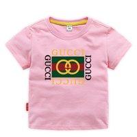 модные футболки оптовых-Дети дизайнер одежды девушка мальчик мода печати хлопка дизайнер одежды мужская дизайнер футболка дышащий модный бренд класса люкс 2E-26