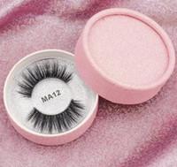 ingrosso scatole frustate-Stock 16 stili 3D faux visone ciglia finte visone ciglia 3D proteiche di seta ciglia 100% fatto a mano naturale ciglia finte con scatola regalo rosa