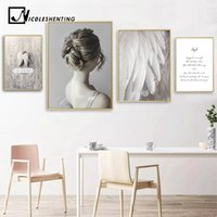 Wholesale decorative wall art canvas painting for sale - Group buy Angel Feather Abstract Canvas Poster Nordic Decoration Wall Art Print Minimalist Painting Decorative Picture Living Room Decor