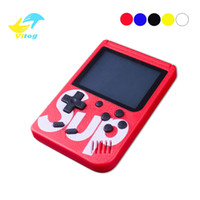 tv spielekonsole großhandel-Sup Spielkasten Retro Portable Mini Handheld-Spielkonsole 3,0 Zoll Kids Game Player mit 1000mAh Batterie TV Out