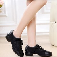 Wholesale square dancing shoes online - Designer Dress Shoes Sagace Women Soft Bottom Mesh Lace up Ladies Casual Single Dancing Square Heel Fashion New Woman feb9