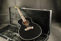Wholesale guitar online - Top Quality E J200A Jumbo Electric Acoustic Guitar Fishman EQ Mahogany Neck Grover Tuner Black Color