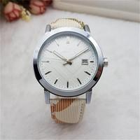 Wholesale best watch bands for men resale online - WA Fashion women Quartz luxury watches top Leather band Dress Sport Quartz watches for men ladies best gift
