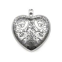 Wholesale accessories for birds for sale - Group buy Can Be Opened Flower Twinned Birds Heart Pendants for Necklace Women Silver Fashion DIY Jewelry Making Accessories New