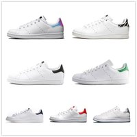 Wholesale girl casual lace shoes resale online - 2019 New Designer Stan Shoes Fashion Smith Mens Girl Womens Green Black Red Bule Casual Leather Cheap Sports Sneakers Shoes