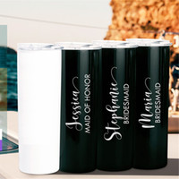 Wholesale oz cars for sale - Group buy 20 oz Sublimation Blank Skinny Tumbler DIY Stainless Steel Cup Double Wall Car Cups Coffee Beer Mug