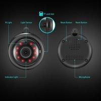 güvenlik hdd toptan satış-Siyah 360 Panorama 720 P Bulut Depolama Akıllı Ev Güvenlik WiFi IP 1.8mm / 3.6mm lens Kamera