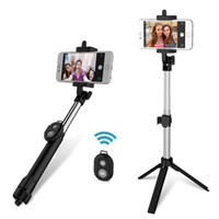 Wholesale bluetooth extendable selfie stick monopod tripod for sale - Group buy 3 in Handheld Extendable Bluetooth Selfie Stick Tripod Monopod Remote for iOS iPhone Android Smart Phone