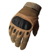 жесткие перчатки оптовых-RIGWARL 1 Pair Motorcycle Gloves Non-slip Hard Knuckle Full Finger Gloves Protective Gear for Outdoor Sports Racing Motocross