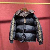 Chaqueta Acolchada de algod/ón para Hombre oto/ño Invierno New Wear en Ambos Lados