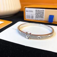 lettres en diamant pour bracelets achat en gros de-Bracelet en émail Bracelet 2019 designer de luxe bijoux de mode bijoux en diamants pour hommes et femmes de lettres décorations