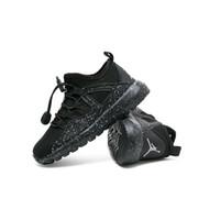 zapatos de deporte casual transpirable al por mayor-2019 primavera niños zapatos deportivos transpirables mocasines negros cómodos casuales niños zapatillas zapatillas de deporte de moda de bebé zapatillas