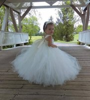 Wholesale little girls baby pink dress for sale - Group buy 2019 sweet Tulle ball gown Flower Girl s Dresses with D floral Lace appliques pearl sash little baby Girl s Birthday Party Pageant Dresses