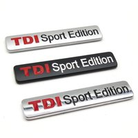 emblème tdi achat en gros de-100 PCS 3D Metal TDI Sport Edition Emblème Décor Badge De Voiture Styling Autocollants 83x17mm