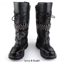 eaa4af2f362e5e schwarze schwere stiefel großhandel-Herren-Motorradstiefel aus schwarzem  Leder