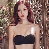 Wholesale fashion wire ring for sale - Group buy Fashion Sexy Women Invisible Bra Without Steel Ring Thin Section Gathered Non slip Tube Top Comfortable and breathable