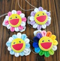 ingrosso spille arcobaleno-Alta qualità nuovo 100% cotone 4 colori arcobaleno girasole peluche spilla accessori borsa per i migliori regali
