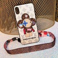iphone / ipod cases girassol venda por atacado-Top quality phone case de luxo para iphone x xs xr xs max 6 6 plus 7 7 mais 8 8 plus couro pintado girassóis celular case + colhedor