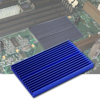 calefacción de aletas de aluminio al por mayor-Nuevo disipador de calor 100 * 60 * 10 mm DIY IC disipador de calor aleta de enfriamiento de aluminio