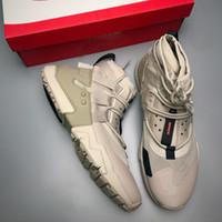 zapatos de color marrón al por mayor-Nuevas zapatillas deportivas HUARACHE GRIPP QS para hombre de alto rendimiento Zapatillas con cremallera y cierre Diseño Zapatillas de deporte para entrenar al aire libre en color marrón