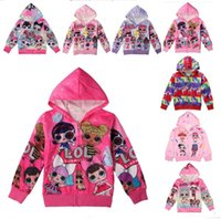 Wholesale cute jackets for spring for sale - Group buy Cartoon Surprise Girls Zipper Coat Spring Autumn Cute Hoodies Jacket Kids Sweatshirts Children Long Sleeve Hooded Top Coats For T A3126