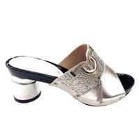 Hochzeit Goldenen Sandalen Fersen Online Großhandel