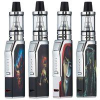 mini elektronik atomizer başlatma seti toptan satış-Yeni Elektronik Sigara Mini 80 W Vape Mod Başlangıç Kitleri 1300 mAh Pil Taşınabilir Vape Kalem Kitleri ile 2 ml Atomizer