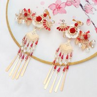 Wholesale phoenix hair jewelry for sale - Group buy Vintage Wedding Jewelry Headpiece Bride Hair Clip Long Tassel Classical Phoenix Hair Pin Bridal Hair Accessories