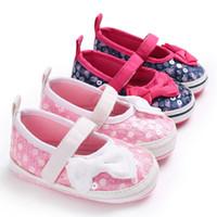 обувь для жемчуга оптовых-Newest Autumn Girls leather shoes Children girls baby princess bowknot sneakers pearl diamond single shoes Kids dance