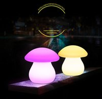 Wholesale led bar table lamp rechargeable resale online - 24CM height LED mushroom table lamp Rechargeable LED Luminous floor lamp IP65 waterproof bar counter desk lamp Bar kTV disco supplies