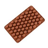 coffee chocolates venda por atacado-DHL Silicone 55 Cavidade Mini Grãos De Café de Chocolate Sugar Candy Mould molde de gelo Bolo Decoração DIY molde de cozimento Bakeware