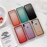 Wholesale iphone six online – custom Gradient Dual Color Transparent TPU Shockproof Phone Case for iPhone Pro Max XR XS MAX Plus six colors