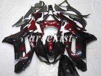carenado para kawasaki ninja rojo zx6r al por mayor-Nueva motocicleta ABS Carenados Set para Kawasaki Ninja ZX6R ZX6R 2007 2008 07 08 6R conjunto del cuerpo del vino rojo de encargo