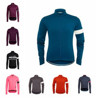 Wholesale long sleeve cycling jersey sale resale online - New Hot Sale RAPHA team Cycling long Sleeves jersey cycling clothing breathable outdoor mountain bike D2811